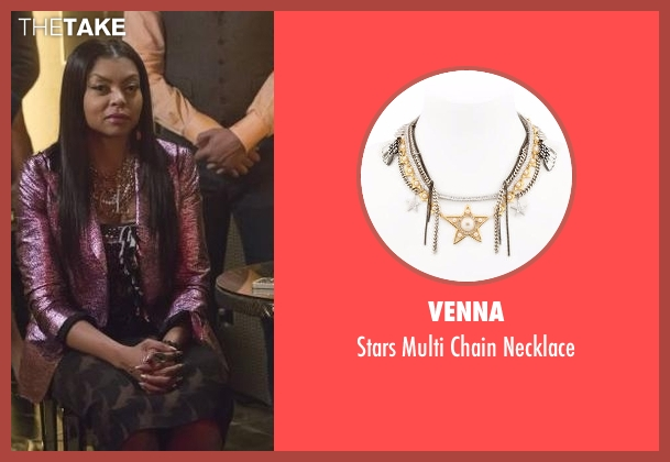 Venna silver necklace from Empire seen with Cookie Lyon (Taraji P. Henson)