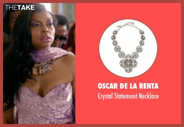 Oscar De La Renta silver necklace from Empire seen with Cookie Lyon (Taraji P. Henson)
