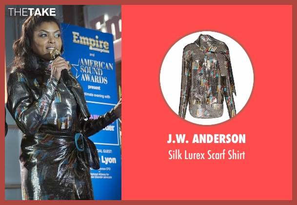 J.W. Anderson silver shirt from Empire seen with Cookie Lyon (Taraji P. Henson)