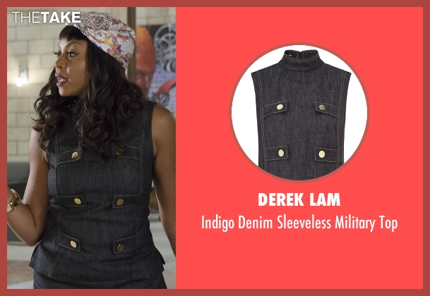 Derek Lam top from Empire seen with Cookie Lyon (Taraji P. Henson)