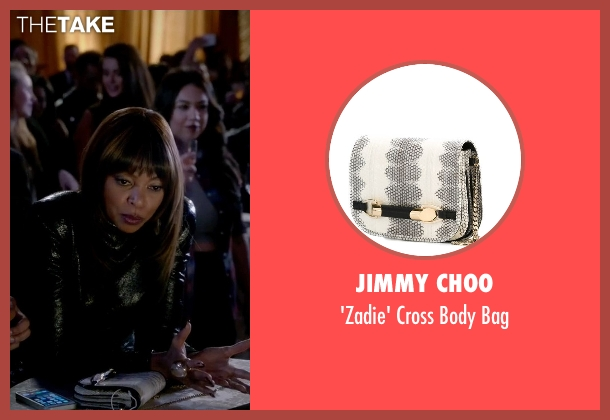 Jimmy Choo white bag from Empire seen with Cookie Lyon (Taraji P. Henson)
