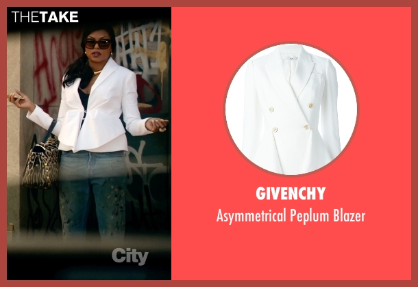 Givenchy white blazer from Empire seen with Cookie Lyon (Taraji P. Henson)