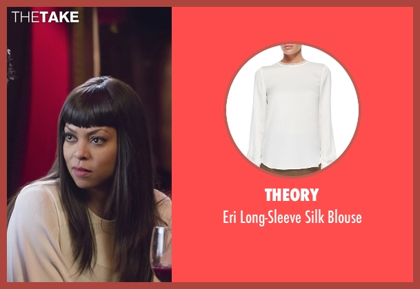 Theory white blouse from Empire seen with Cookie Lyon (Taraji P. Henson)