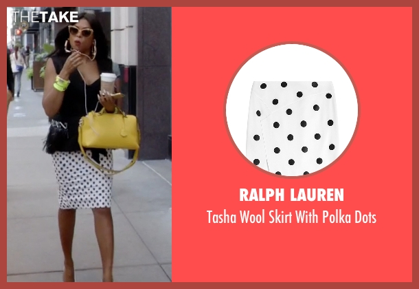 Ralph Lauren white dots from Empire seen with Cookie Lyon (Taraji P. Henson)