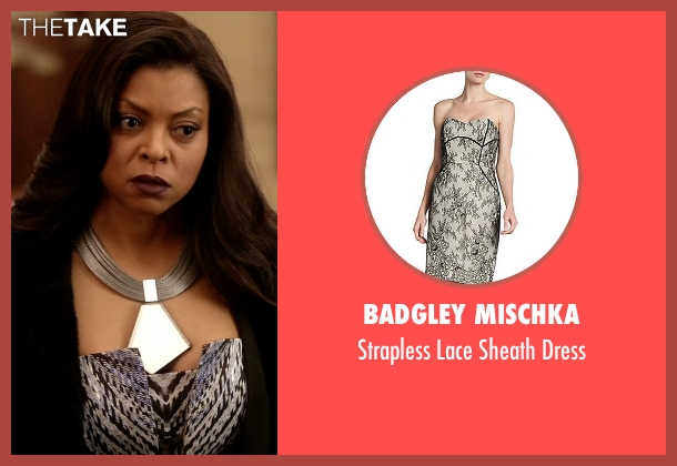 Badgley Mischka white dress from Empire seen with Cookie Lyon (Taraji P. Henson)