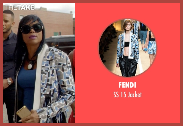 Fendi white jacket from Empire seen with Cookie Lyon (Taraji P. Henson)