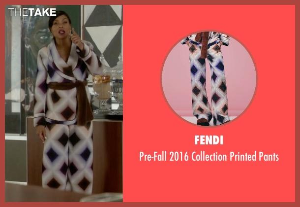 Fendi white pants from Empire seen with Cookie Lyon (Taraji P. Henson)
