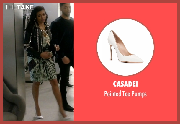 Casadei white pumps from Empire seen with Cookie Lyon (Taraji P. Henson)