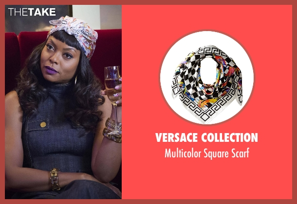 Versace Collection white scarf from Empire seen with Cookie Lyon (Taraji P. Henson)