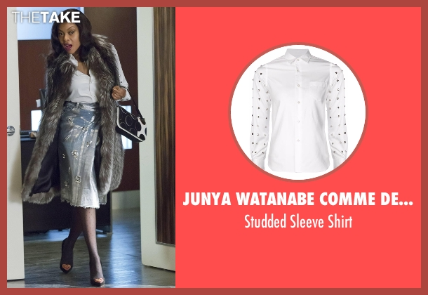 Junya Watanabe Comme Des Garçons white shirt from Empire seen with Cookie Lyon (Taraji P. Henson)