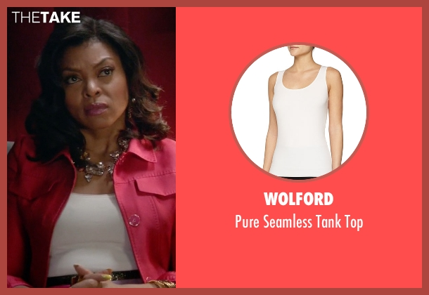 Wolford white top from Empire seen with Cookie Lyon (Taraji P. Henson)