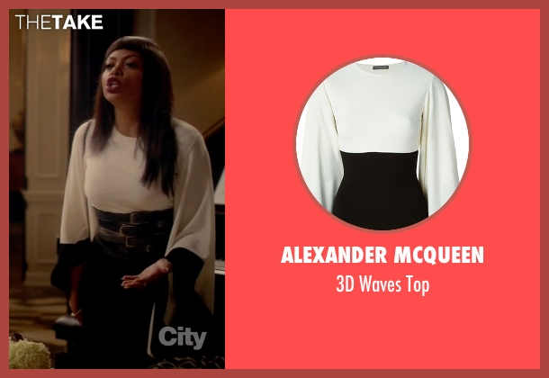 Alexander Mcqueen white top from Empire seen with Cookie Lyon (Taraji P. Henson)