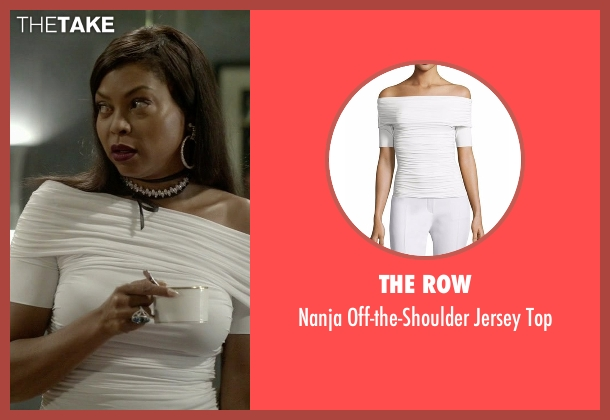 The Row white top from Empire seen with Cookie Lyon (Taraji P. Henson)