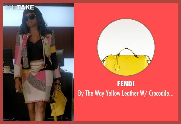 Fendi yellow bag from Empire seen with Cookie Lyon (Taraji P. Henson)