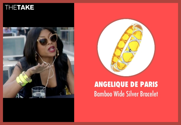 Angelique De Paris yellow bracelet from Empire seen with Cookie Lyon (Taraji P. Henson)