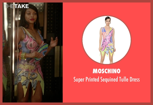 Moschino yellow dress from Empire seen with Cookie Lyon (Taraji P. Henson)