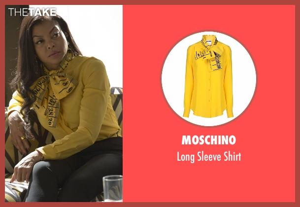 Moschino yellow shirt from Empire seen with Cookie Lyon (Taraji P. Henson)