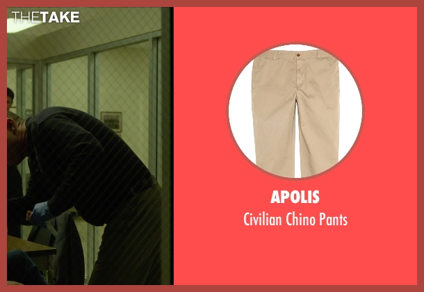 Apolis beige pants from Gone Girl seen with Cooper Thornton (Doctor Benson)