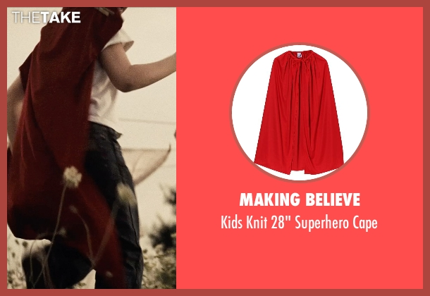 Making Believe cape from Man of Steel seen with Cooper Timberline (Clark Kent (9 Years))