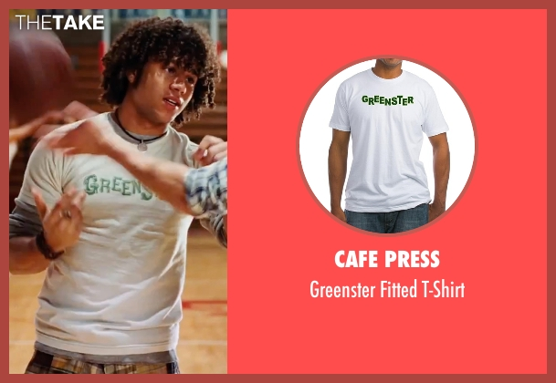 Cafe Press white t-shirt from High School Musical 3: Senior Year seen with Corbin Bleu (Chad Danforth)