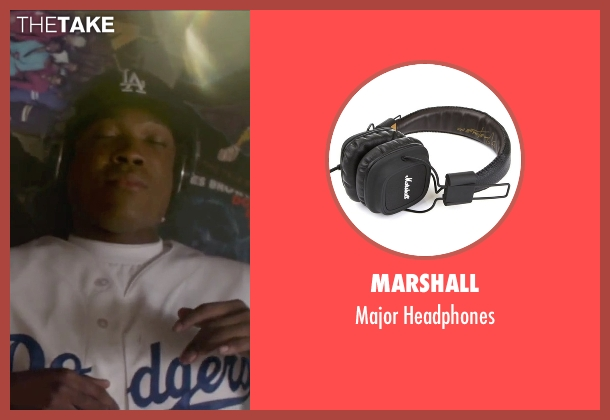 Marshall black headphones from Straight Outta Compton seen with Corey Hawkins (Dr. Dre)
