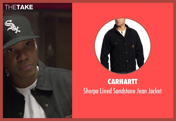 Carhartt black jacket from Straight Outta Compton seen with Corey Hawkins (Dr. Dre)