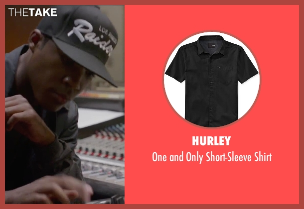 Hurley black shirt from Straight Outta Compton seen with Corey Hawkins (Dr. Dre)