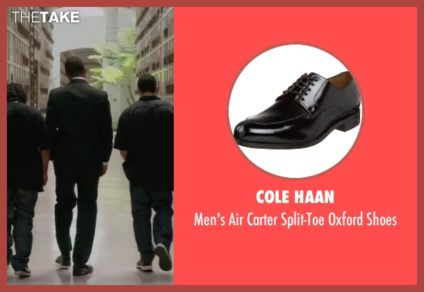 Cole Haan black shoes from Straight Outta Compton seen with Corey Hawkins (Dr. Dre)