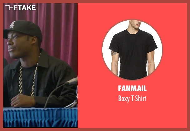 Fanmail black t-shirt from Straight Outta Compton seen with Corey Hawkins (Dr. Dre)
