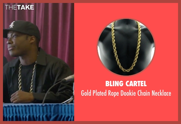 Bling Cartel gold necklace from Straight Outta Compton seen with Corey Hawkins (Dr. Dre)