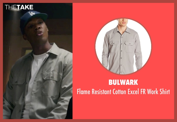 Bulwark gray shirt from Straight Outta Compton seen with Corey Hawkins (Dr. Dre)