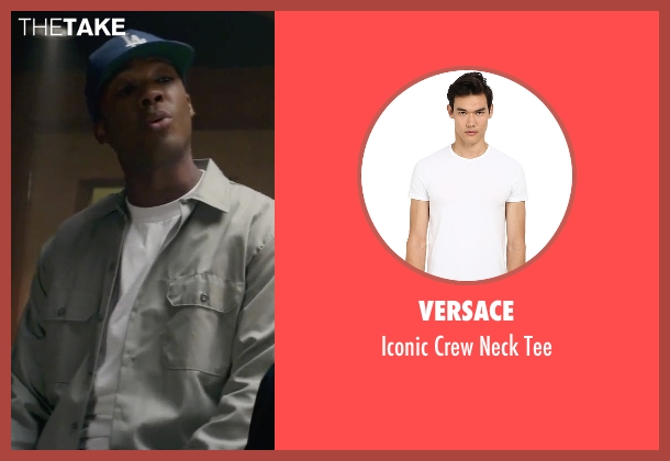 Versace white tee from Straight Outta Compton seen with Corey Hawkins (Dr. Dre)