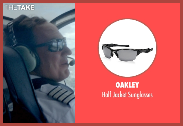 Oakley black sunglasses from Ex Machina seen with Corey Johnson (Jay)