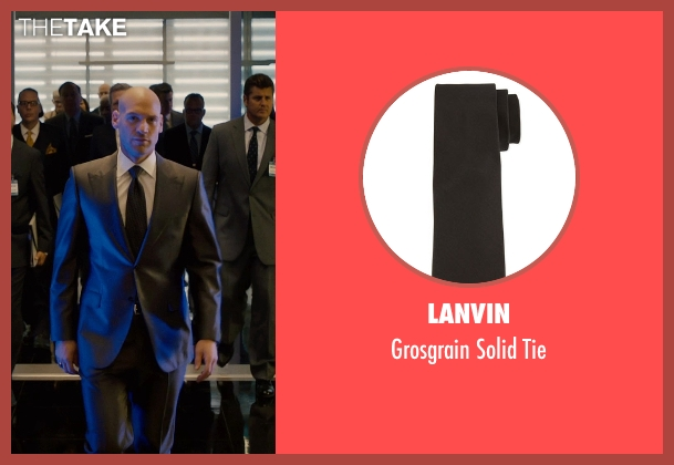 Lanvin black tie from Ant-Man seen with Corey Stoll (Darren Cross / Yellowjacket)
