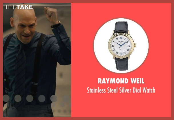 Raymond Weil black watch from Ant-Man seen with Corey Stoll (Darren Cross / Yellowjacket)