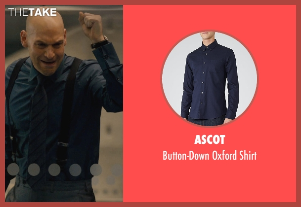 Ascot blue shirt from Ant-Man seen with Corey Stoll (Darren Cross / Yellowjacket)