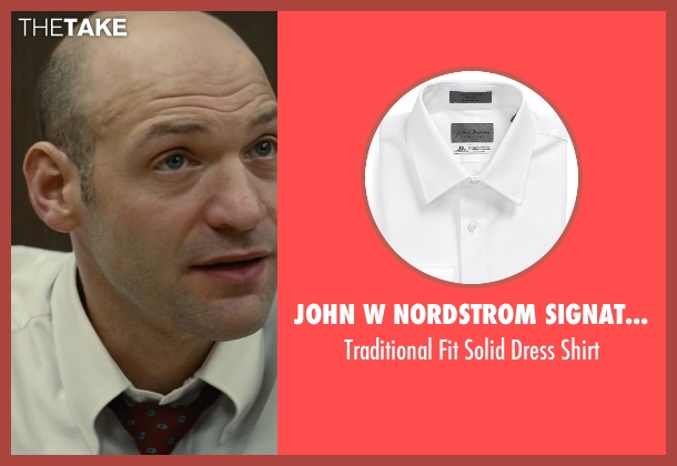 John W Nordstrom Signature white shirt from Black Mass seen with Corey Stoll (Fred Wyshak)