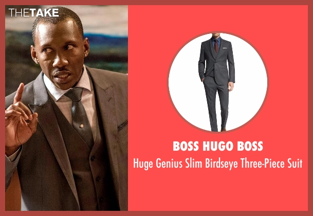 Boss Hugo Boss gray suit from Marvel's Luke Cage seen with Cottonmouth (Mahershala Ali)