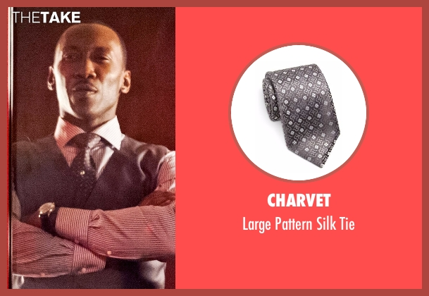Charvet gray tie from Marvel's Luke Cage seen with Cottonmouth (Mahershala Ali)