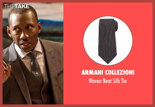 Armani Collezioni gray tie from Marvel's Luke Cage seen with Cottonmouth (Mahershala Ali)