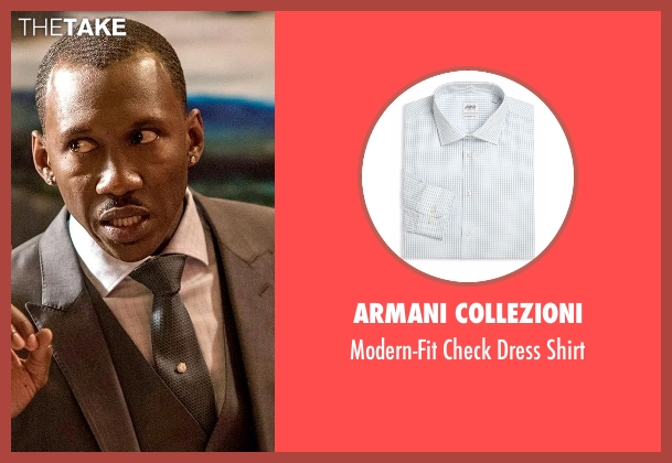 Armani Collezioni white shirt from Marvel's Luke Cage seen with Cottonmouth (Mahershala Ali)