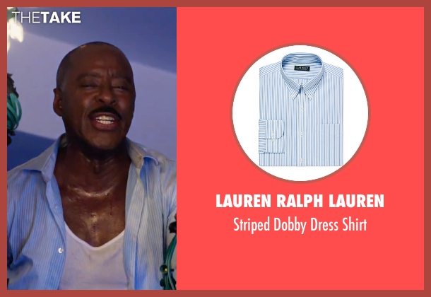 Lauren Ralph Lauren blue shirt from Office Christmas Party seen with Courtney B. Vance (Walter)