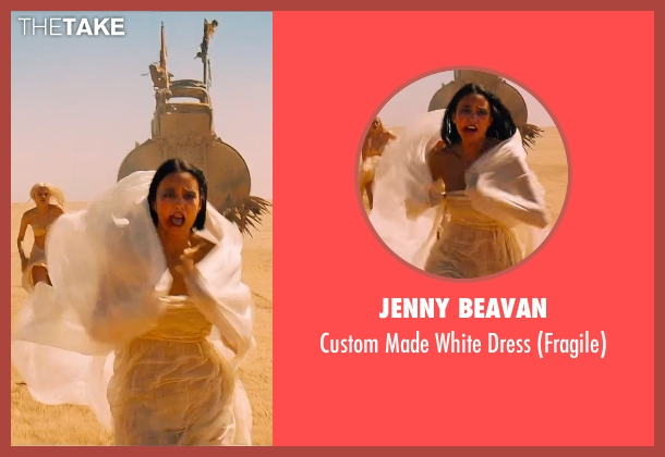Jenny Beavan white dress from Mad Max: Fury Road seen with Courtney Eaton (Fragile)