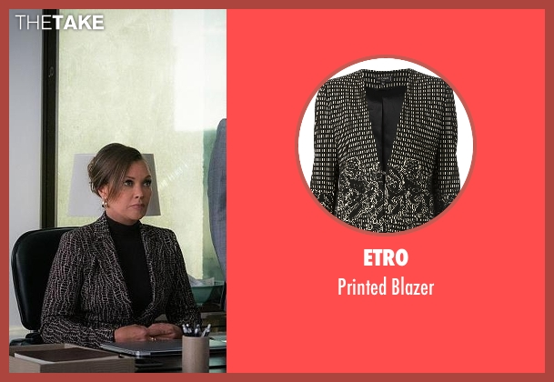 Etro black blazer from The Good Wife seen with Courtney Paige (Vanessa Williams)