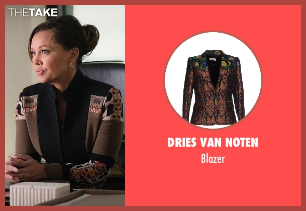 Dries Van Noten brown blazer from The Good Wife seen with Courtney Paige (Vanessa Williams)