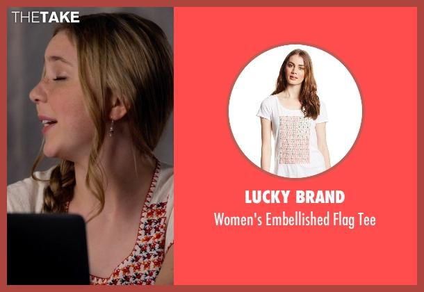 Lucky Brand beige tee from Dolphin Tale 2 seen with Cozi Zuehlsdorff (Hazel Haskett)