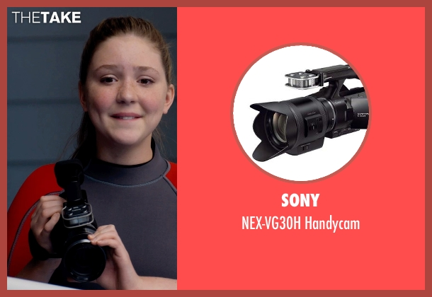 Sony handycam from Dolphin Tale 2 seen with Cozi Zuehlsdorff (Hazel Haskett)