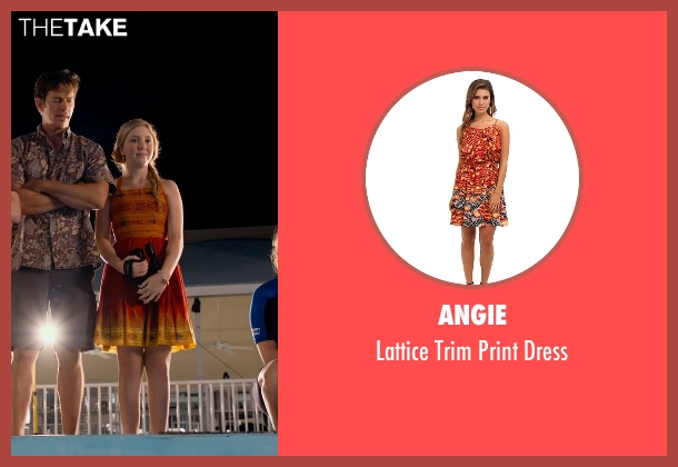 Angie orange dress from Dolphin Tale 2 seen with Cozi Zuehlsdorff (Hazel Haskett)