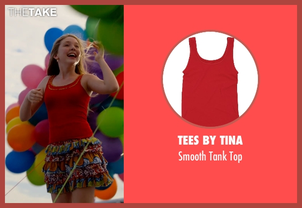 Tees By Tina red top from Dolphin Tale 2 seen with Cozi Zuehlsdorff (Hazel Haskett)