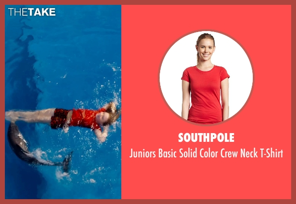 Southpole red t-shirt from Dolphin Tale 2 seen with Cozi Zuehlsdorff (Hazel Haskett)